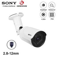 Hi3516c 5mp/3mp h.265 + 42 pces infravermelho led 2.8mm 12mm lente 4x varifocal ao ar livre ip66 zoom 25fps onvif áudio poe ip cctv câmera|Câmeras de vigilância| |  -