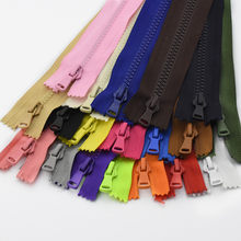 2 Pcs 5 15/20/25 Cm Resin Ritsleting Close-End Auto Lock Eco Plastik zipper untuk Pakaian(China)