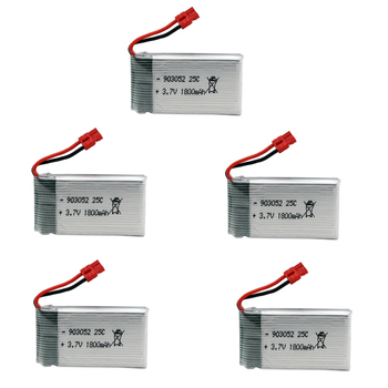 3.7V Lipo Battery XH4.0 Plug for SYMA X5 X5S X5C X5SC X5SH X5SW X5UW X5HW RC helicopter Spare Parts 903052 3.7 V 1800mah Battery image