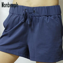 Monbeeph elastico con Tasca Shorts Coulisse Shorts Estate Elastico In Vita Le Donne Nero Shorts(China)