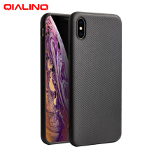 QIALINO Stylish Carbon Fibre Phone  Cover for Apple iPhone X/XS Fibre Feeling Ultra Thin Case for iPhone XR/XS Max