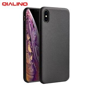 Image 1 - QIALINO funda de fibra de carbono para Apple iPhone X/XS, carcasa ultrafina con sensación de fibra de carbono para iPhone XR/XS Max
