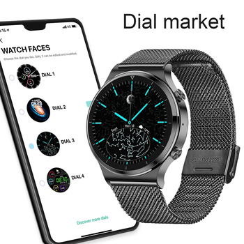 LIGE New Smart watch Men Heart rate Blood pressure Full touch screen sports Fitness watch Bluetooth for Android iOS smart watch 3