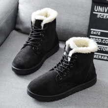Ankle Boots For Women Winter Boots Plush Warm Snow Boots Female Winter Shoes Women Shoes Booties Women's Boots Plus Size 43 poadisfoo 2018 winter boots high women snow boots plush warm shoes plus size 35 to big 42 easy wear girl white zip jsh m0767