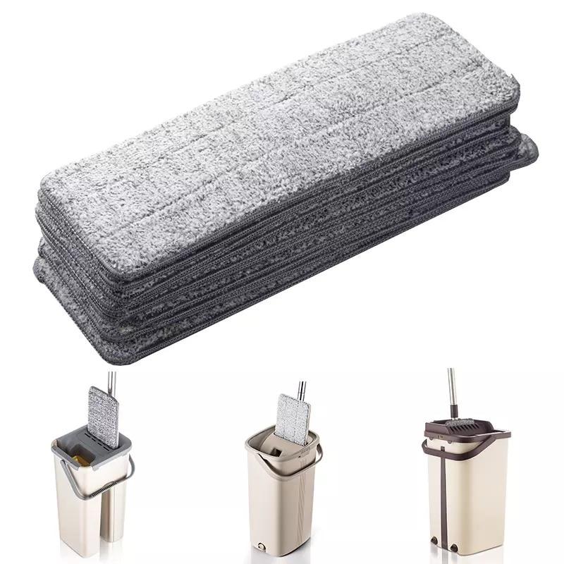 5 pçs substituição mop cabeça almofadas plana squeeze pano torcer ferramentas de limpeza pisos spray para lavar em casa trapos relâmpago oferece limpar