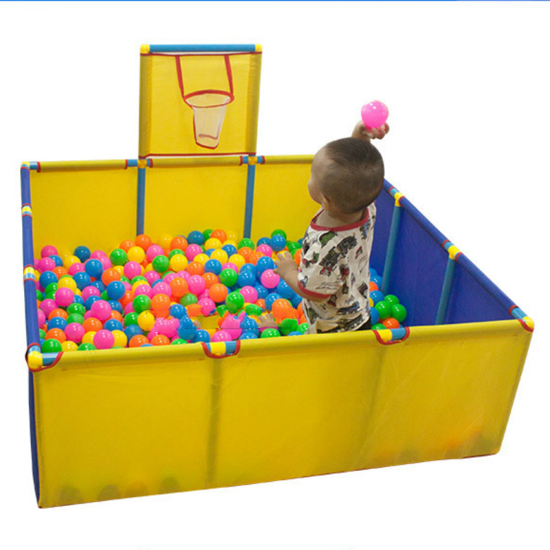 Portable Children's Playpen Baby Shootable Safety Fence Folding Play Fence Xmas Gift Pool Balls For Kids