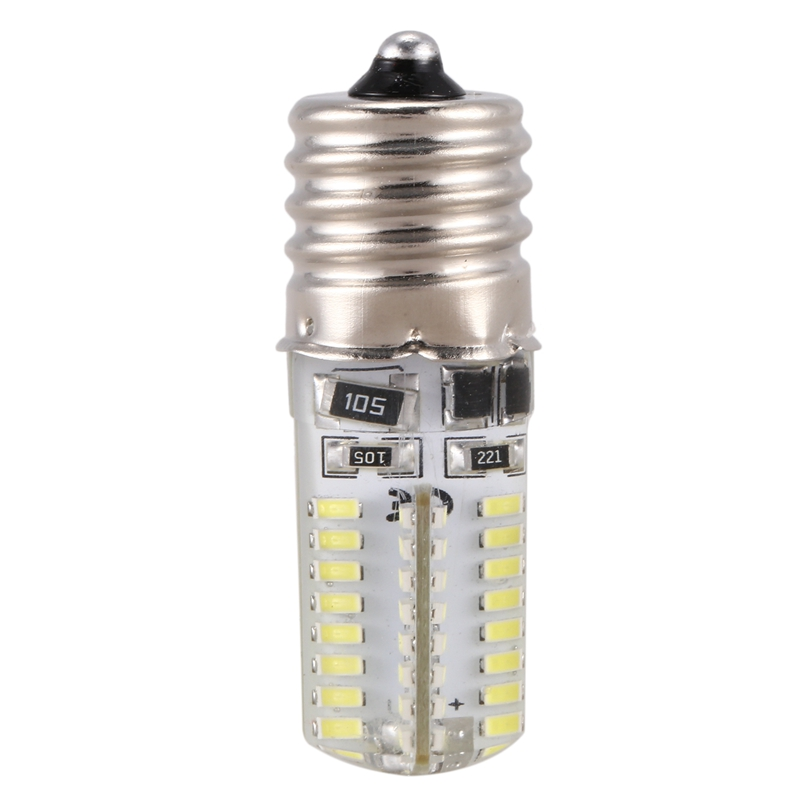 Hot <font><b>E17</b></font> Socket 5W 64 <font><b>LED</b></font> Lamp <font><b>Bulb</b></font> 3014 SMD Light Pure White AC 110V-220V image