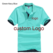 NEEDBO Mens Polo Shirts with Short Sleeve Customized Logo Shirt Printing DIY Your Own Design Men Slim Casual Top