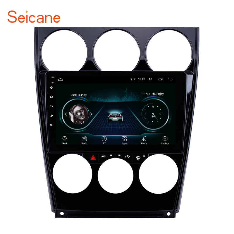 Seicane Android 8.1 Android 8.1 Car <font><b>GPS</b></font> Multimedia Player for Old <font><b>Mazda</b></font> 2004 2005- 2015 <font><b>6</b></font> Support Steering Wheel Control OBD2 image