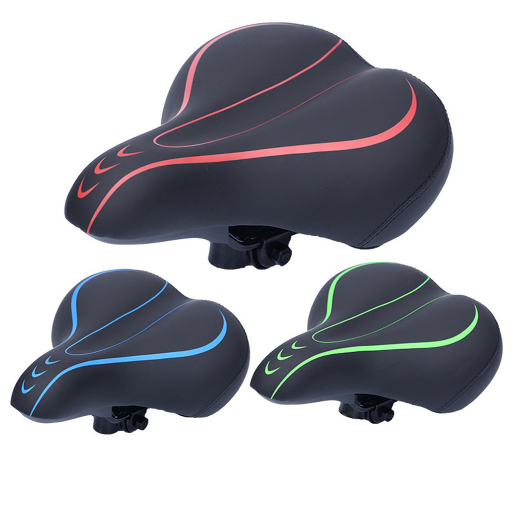 Bike Bicycle Wide Big Bum Soft Extra Comfort Cycling Spring Saddle Seat Pad GT#