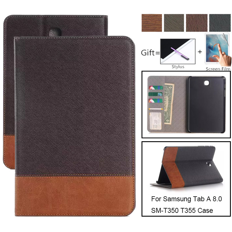 Business Case For Samsung Galaxy Tab A 8.0 2015 T350 T355 PU Leather Tablet Cover For SM-T350 SM-T355 P350 P355 Stand Case Capa