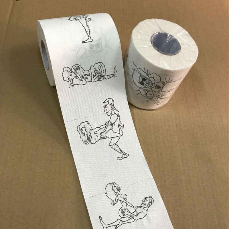ความคิดสร้างสรรค์กระดาษม้วนตลกตลกตัวเลขเซ็กซี่หญิงกระดาษทิชชูห้องน้ำ 3 ชั้นFunny Noveltyของขวัญ