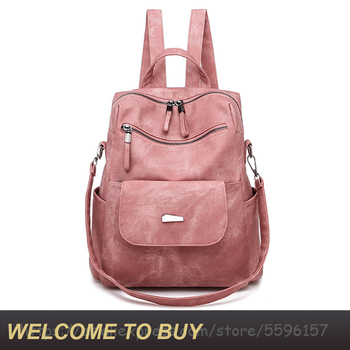 New Fashion Mochilas Shoulder Bag Casual PU Backpack Female Brand Leather Women Backpack Large Capacity  For Girls  School Bags joypessie brand vintage backpack mochilas travel pu leather backpack women backpacks for teenage girls school bags