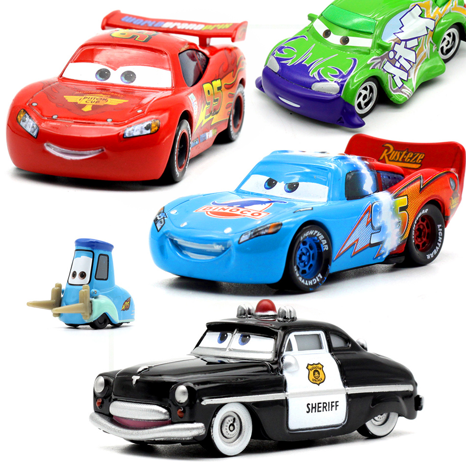 Car Disney Pixar Car 2 3  McQueen Jackson Storm Sally Guido Mater 1:55 Die-cast Metal Alloy Car 3 Gift Kids Boy Toy For Child