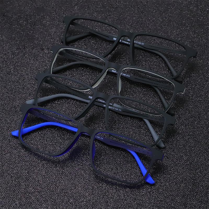 Vazrobe Titanium Glasses Frame Men Women Matte Black Eyeglasses Oversized 6g Ultra-light Eyewear For Prescription Myopia Diopter