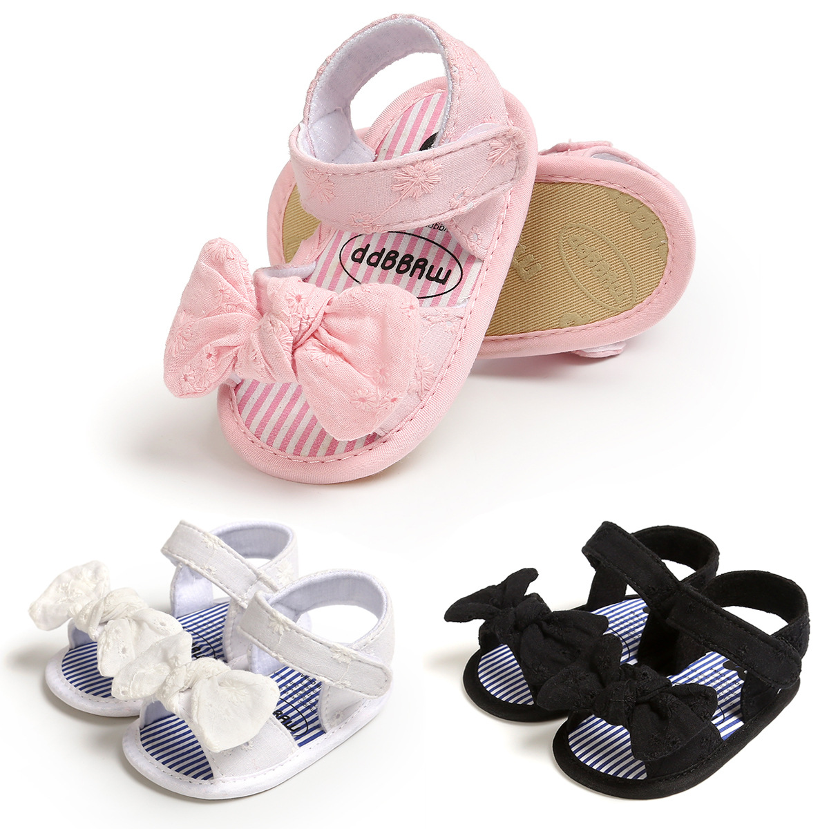 Anti-slip Cotton Baby Girls Shoes Butterfly Sandals Toddler Shoes First Walkers Shoes Summer Prewalkers Kids Casual Slippers