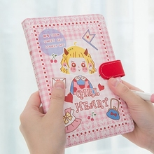 Girl Heart Faux Leather Hard Cover Cute Journal Diary Beautiful Drawing Notebook Notepad Planner