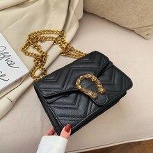 2020 Metal Appliques Women Handbag Chain Small Crossbody Bag