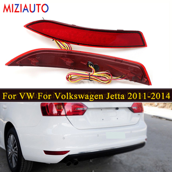 MIZIAUTO LED rear bumper reflector Lamp Auto Light for VW For Volkswagen Jetta 2011-2014 Car styling Tail Brake warning light