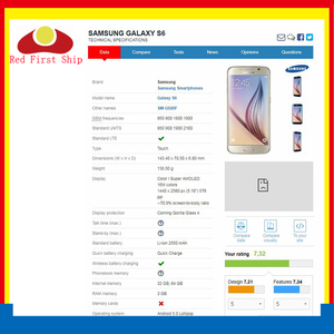 Image 2 - Pantalla táctil para Samsung Galaxy S6 G920 G920F G9200 SM G920F, repuesto de lente de cristal LCD, exterior, 10 unidades por lote