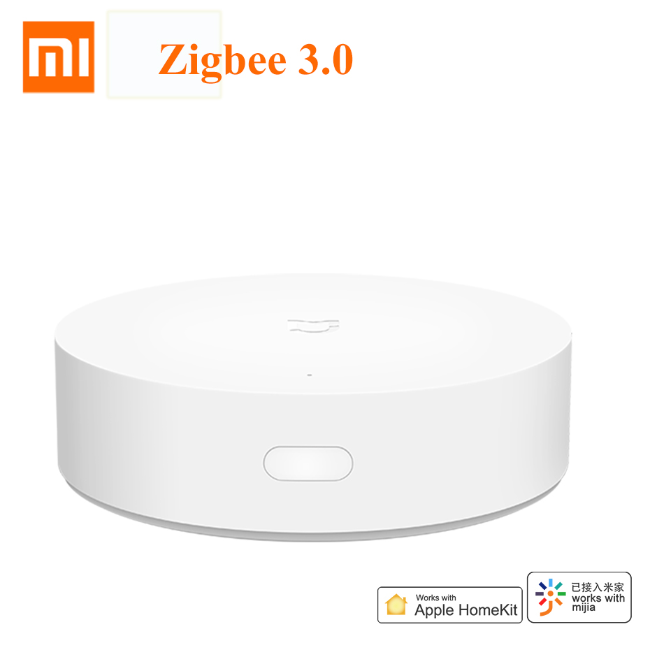 Em Estoque Xiaomi Mijia 3 Hub mi Mi casa Inteligente Multi-Modo de Gateway Gateway ZigBee 3.0 Trabalho com Mi casa APLICATIVO Apple APP Homekit
