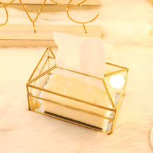 Прямоугольная практичная коробка для салфеток Ресторан Держатель зеркало стекло кухня водонепроницаемый офис Европейский стиль ванная комната декоративные