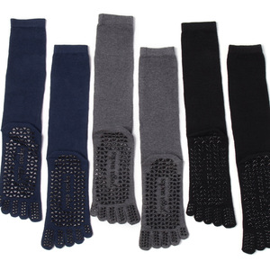 Image 5 - VERIDICAL Large size cotton Five Finger Socks man 3 pairs/lot solid non slip Athletic business party dress crew toe socks