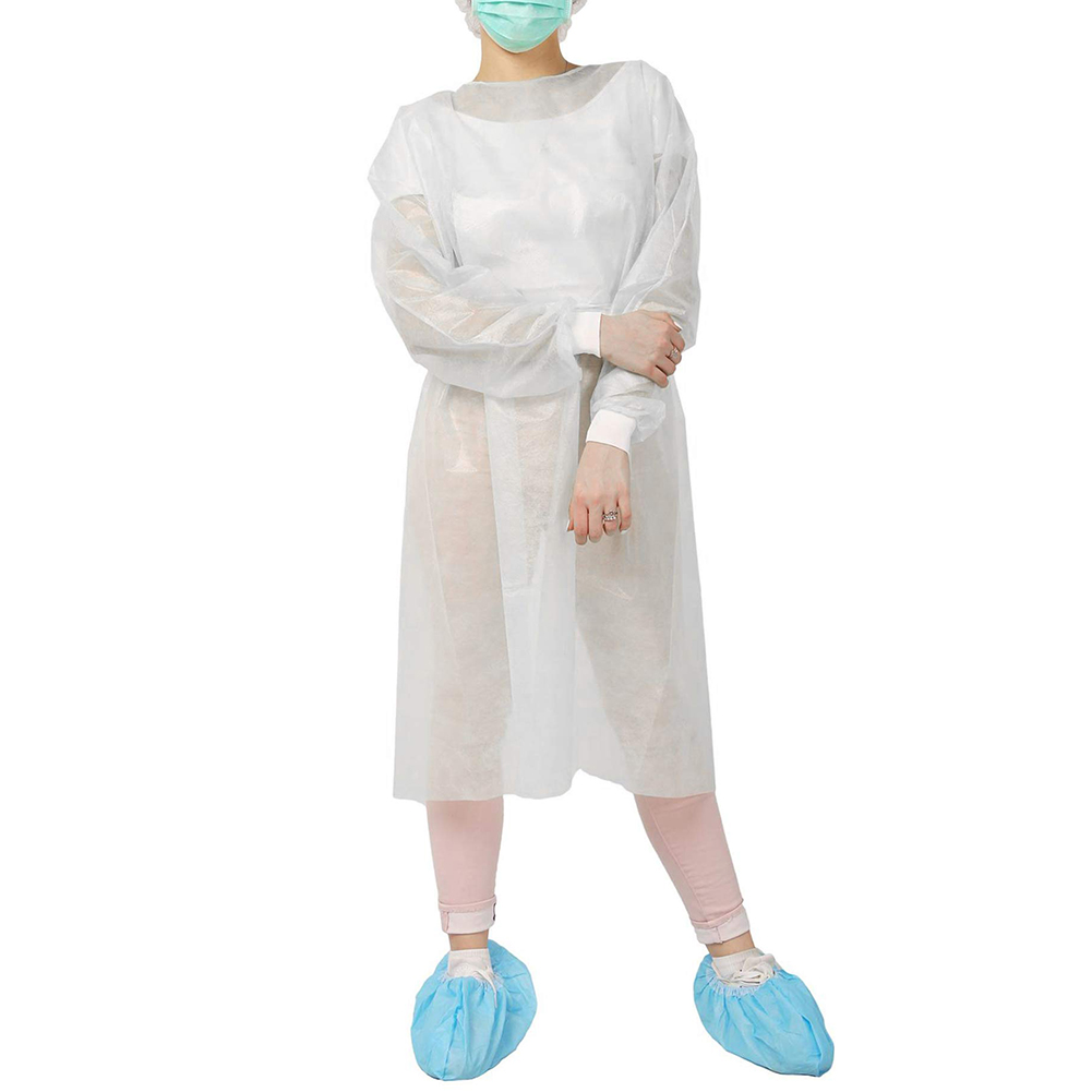 10pcs/set White Disposable Isolation Clothes Non-woven Dust-proof Green Security Protection Suit Surgical Suit Isolation Set