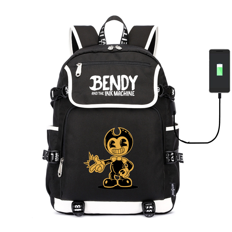 Bandy And Ink Machine Bendy Backpack USB Schoolbag A Generation Of Fat Wholesale Customized