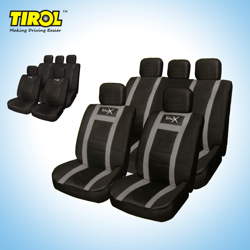 Tirol Car Universal Seat Cover 11 Piece Four Seasons Universal PU Leather Car Seat Cover Cushion Cover