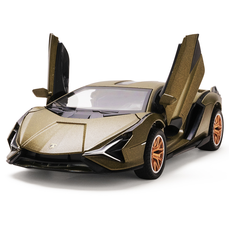 1:32 Lamborghinis Sian FKP37 Car Alloy Sports Car Model Diecast Sound Super Racing Lifting Tail Hot Car Wheel For Children Gifts 5