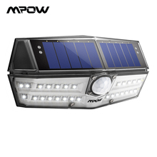 Mpow CD137 30 LED أضواء شمسية للحديقة Ipx7 مقاوم للماء مصباح للطاقة الشمسية زاوية واسعة حساسات الحركة الشمسية للمرآب المسار/حمام سباحة