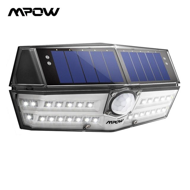 Mpow CD137 30 ไฟ LED พลังงานแสงอาทิตย์สวน Ipx7 กันน้ำพลังงานแสงอาทิตย์โคมไฟมุมกว้าง SOLAR Motion Sensor สำหรับ Pathway Garage/ สระว่ายน้ำ