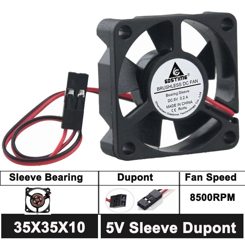 wholesale 100pcs 5V 4cm 40x40x10mm Brushless Cooling Cooler Fan DuPont 40mm