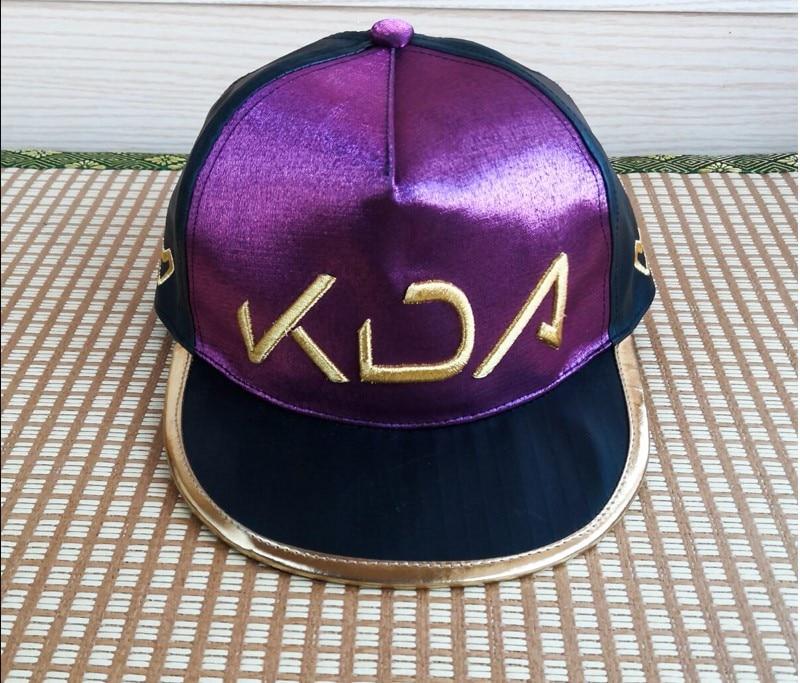 LoL KDA Akali Cosplay Baseball Cap Hat Cosplay Costume Women Headwear Accessory Halloween Gift