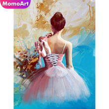 MomoArt Diamond Embroidery Ballet Mosaic Portrait Diy Painting Full Drill Square Rhinestone Wall Decoration