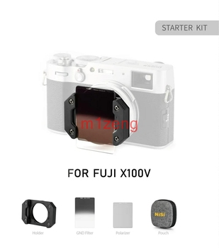 X100V square lens filter system(holder+gnd8+cpl+nd8+bag+natural night filter) for fujifilm X100 X100F X100S X100T camera фото