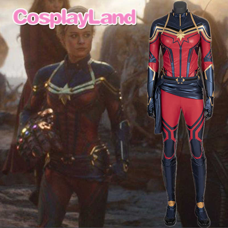 Carol Danvers Captain Marvel Cosplay Costume Avengers Endgame New Suit American Superhero Halloween Costume Custom Made Jumpsuit Aliexpress Marvel studios' captain marvel stars brie larson and is directed by the writing/directing team. carol danvers captain marvel cosplay