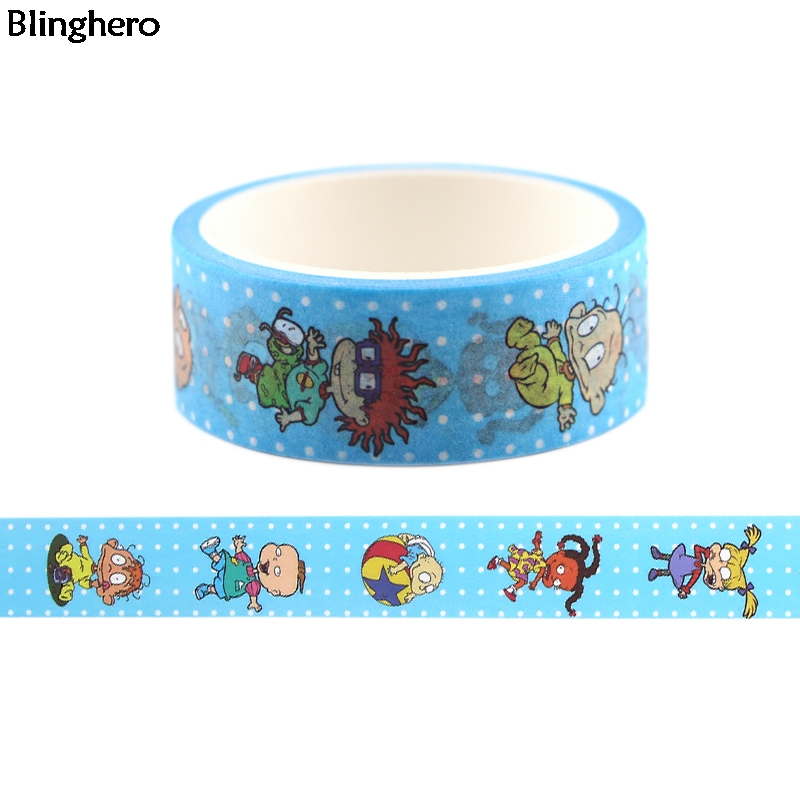 Blinghero 15mmX5m Cartoon Kids Masking Tape Naughty Boys Girls Washi Tape Funny Adhesive Tapes Cool Tape Stickers BH0402