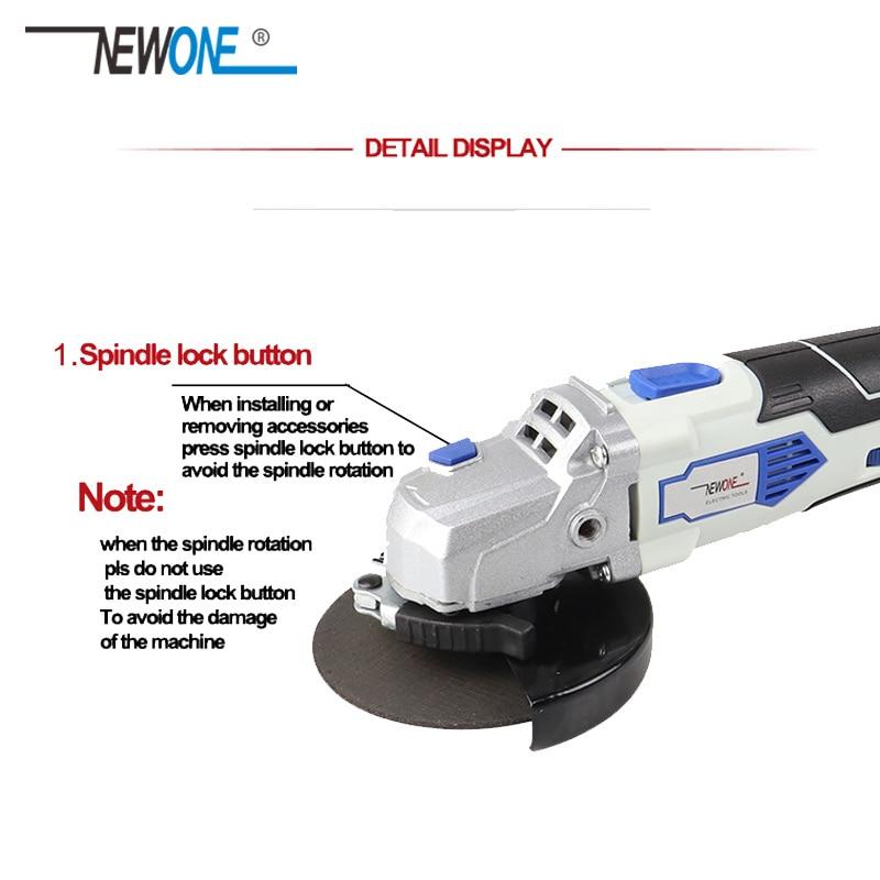 NEWONE 12V Holz Schleifen Maschine Elektrische Metall Winkel Grinder 125mm Variable geschwindigkeit