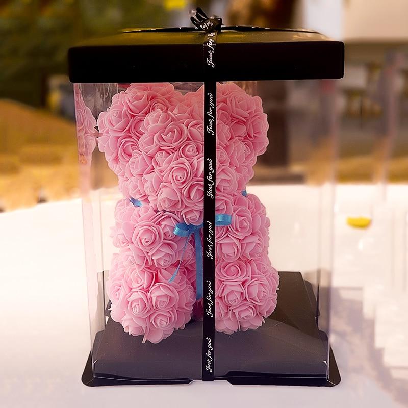 >DIY Modelling Polystyrene Foam Filled with Rose Bear Mold Teddy Valentines Day <font><b>Gifts</b></font> 150Flower Birthday Party Wedding <font><b>Decoration</b></font>