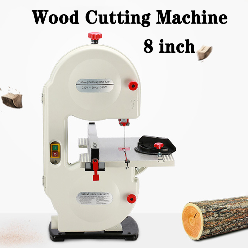 8inch 220V Electric Wood Saw 0-45�� Multi-angle Sawing Circular Machine Wood Cutting Machine Carpentry Woodworking Jig Saw Table
