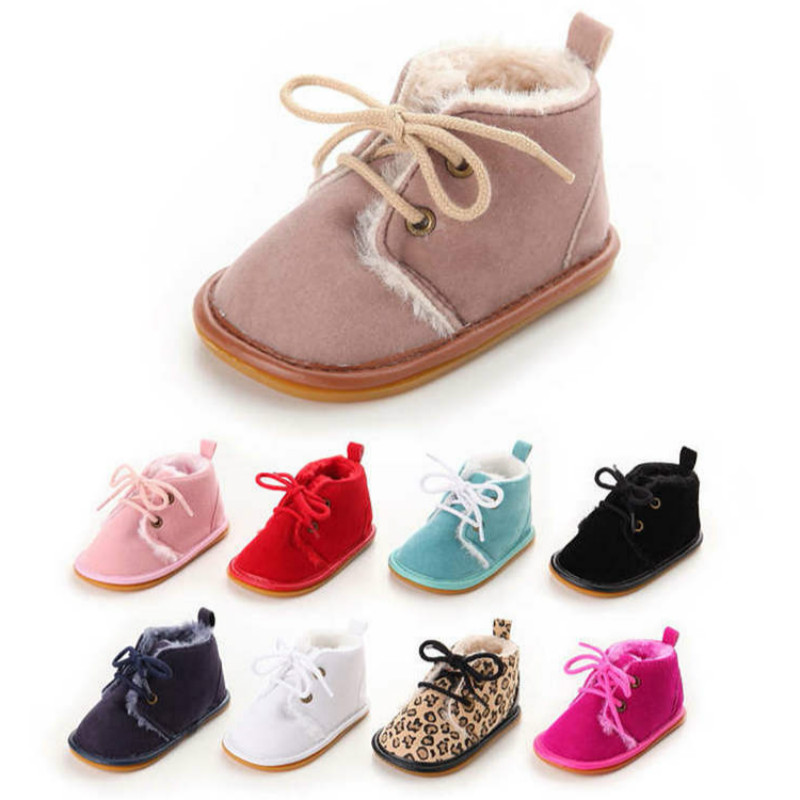 New Style Winter Warm Infant Boots Shoes Girl Crib Shoes  Cotton Anti-slip Sole Newborn Toddler First Walkers Shoes