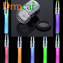 Lampe LED pour robinet de douche, lumière Variable, 7 couleurs, capteur de pression, température de la salle de bain, accessoires de cuisine
