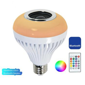 Smart Light Bulb Speaker Bluetooth RGB White Color Changing Dimmable LED Bulb