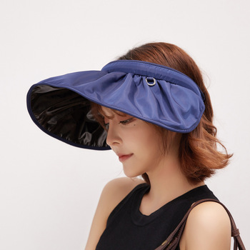 Hat Female Summer Outdoor Sun Protection Foldable Anti-ultraviolet Hollow Top Big Edge Cover Face Sunhat Gorros Mujer тональная основа top face top face to059lwexeo1