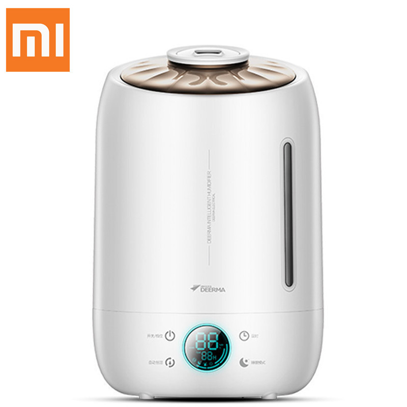 Xiaomi Deerma Dem-f500 Air Humidifier Ultrasonic 5l Quiet Aroma Mist Maker Led Touch Screen Timing Function Home Water Diffuser