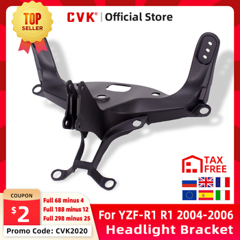 цена на CVK Headlight Bracket Motorcycle Upper Stay Fairing For YAMAHA YZF 1000 R1 2004 2005 2006 YZF-R1 04 05 06 Parts 2007 2008 07 08