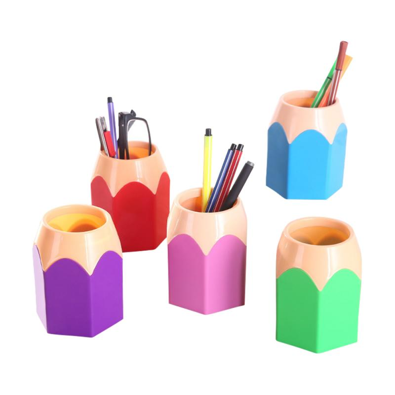 1pc New Mini Pencil Pot Holder Pen Storage Vase Stationery Gift Cup Makeup Brush Container Box Desk Organizer Kawai Girls Gifts