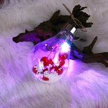 PChristmas LED Transparent Lights Ball Hanging Christmas Decorations For Home Garden Xmas Tree CM